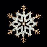 Brosche Schneeflocke