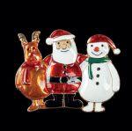 Brosche Weihnachtstrio